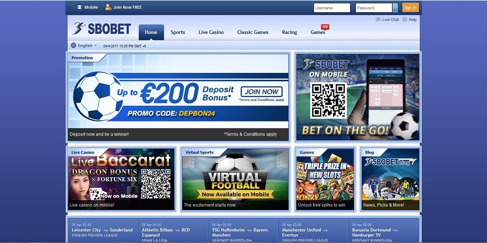 SBOBET Review - Canadian Betting Sites